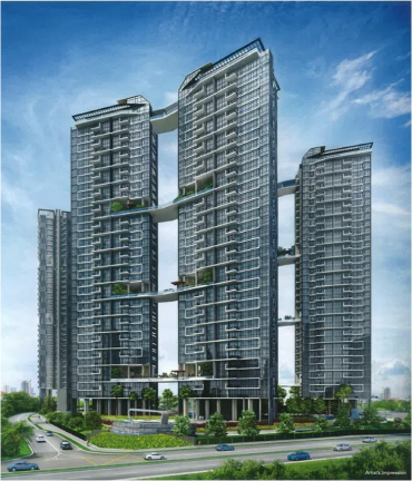 The Trilinq Residential Building, Clementi Singapore.